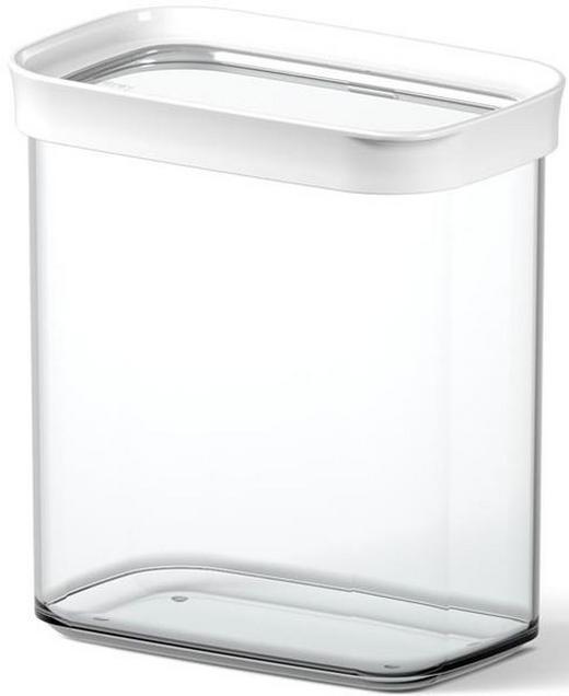 VORRATSDOSE  1,6 - Transparent/Weiß, KONVENTIONELL, Kunststoff (1.60l) - Emsa