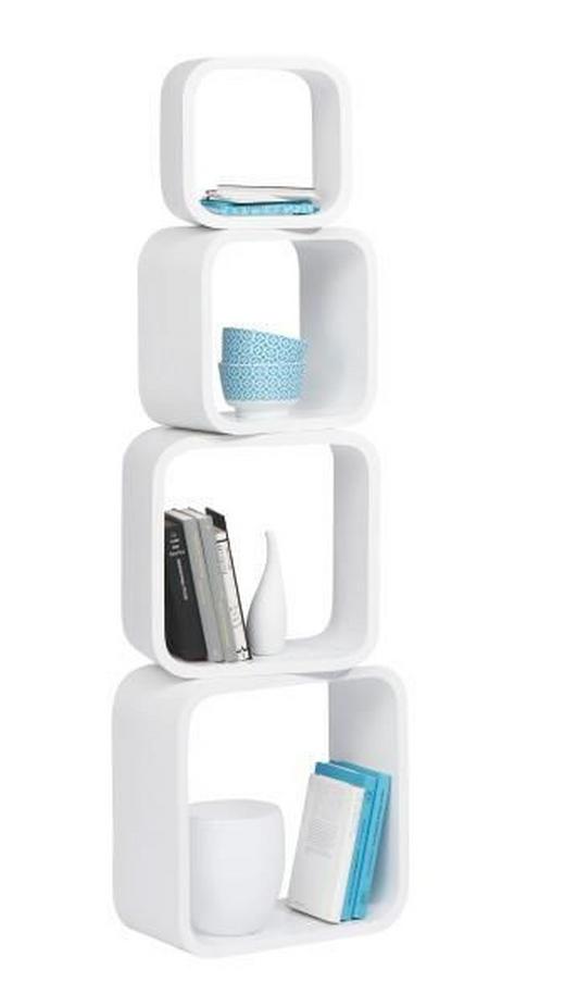 HÄNGEWÜRFEL-SET 4-teilig Weiß - Weiß, Design (41/41/20cm) - Carryhome