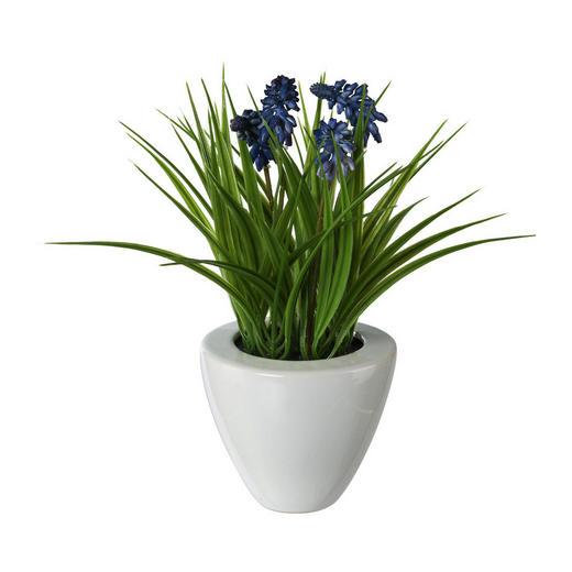 KUNSTBLUME Hyazinthe - Blau/Grün, Trend, Kunststoff (29cm)