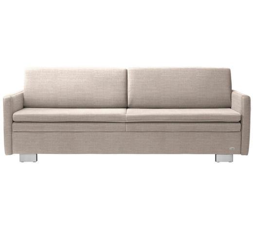 SCHLAFSOFA in Textil Beige  - Beige, KONVENTIONELL, Textil/Metall (216/84/92cm) - Sedda