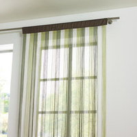 TRÅDGARDIN - grön/naturfärgad, Basics, textil (90/245cm) - BOXXX