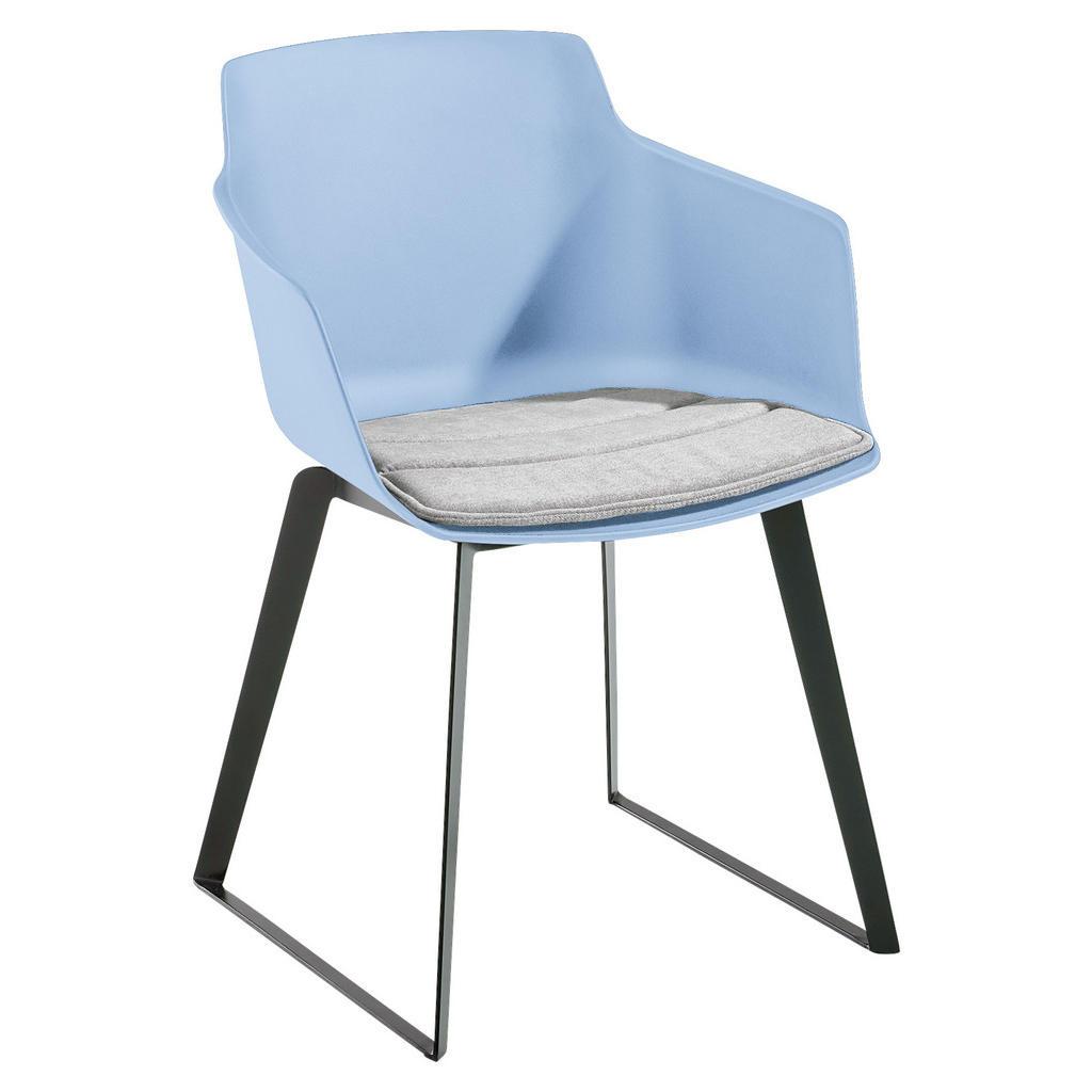 Novel Armlehnstuhl webstoff blau