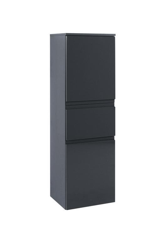 MIDISCHRANK Graphitfarben - Graphitfarben/Grau, Design, Holzwerkstoff (40/130/35cm) - Xora
