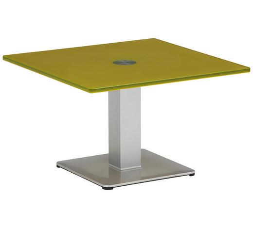 BEISTELLTISCH in Gelb, Silberfarben - Gelb/Silberfarben, KONVENTIONELL, Glas/Holzwerkstoff (60/60/37,5cm)