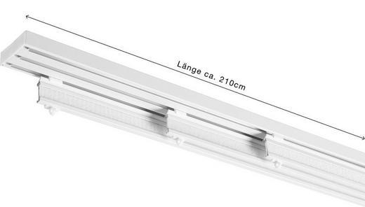 FLÄCHENVORHANGSCHIENE  210 cm - Weiß, Design, Metall (210cm) - Homeware