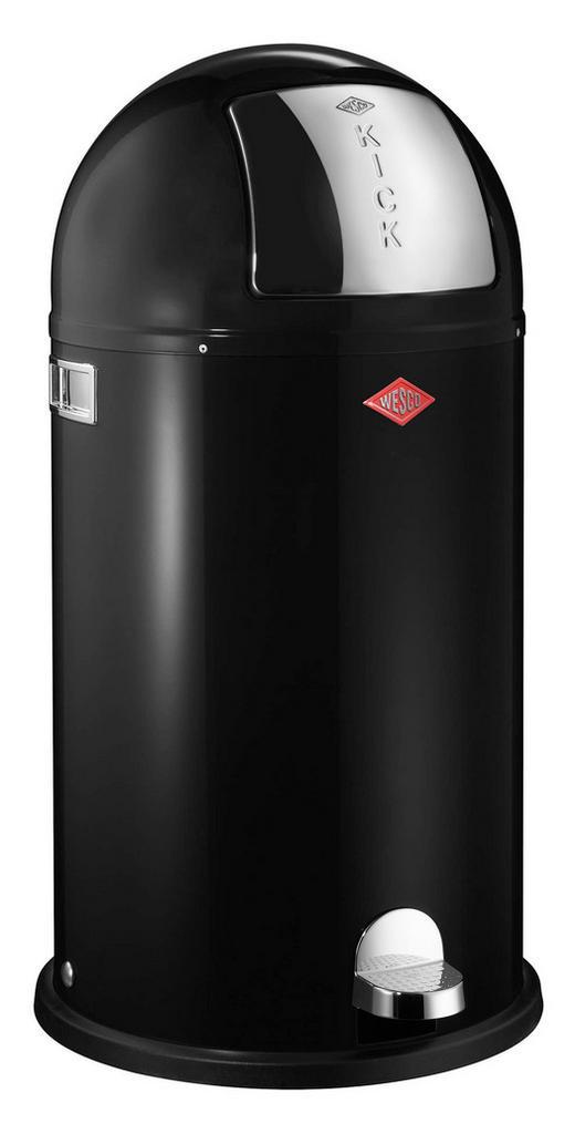 ABFALLSAMMLER KICKBOY 40 L - Edelstahlfarben/Schwarz, Kunststoff/Metall (40/75,5cm) - Wesco