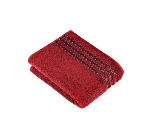 HANDTUCH 50/100 cm - Dunkelrot, Basics, Textil (50/100cm) - Vossen