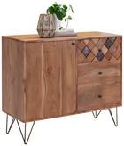 KOMODA - bronzová/barva mosaz, Trend, kov/dřevo (105/88/40cm) - Ambia Home