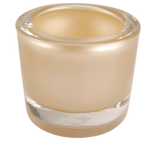 WINDLICHT - Taupe, Design, Glas (6,5/5,7cm)