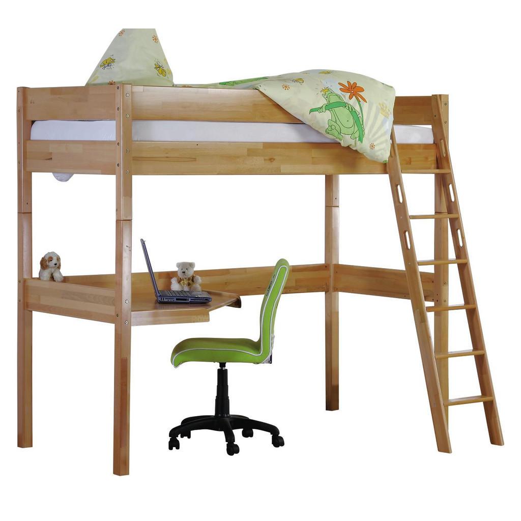 XXXL HOCHBETT Buche massiv 90/200 cm Mehrfarbig | Kinderzimmer > Kinderbetten > Hochbetten | Mehrfarbig | Holz