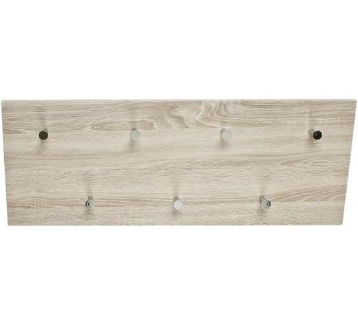 WANDGARDEROBE Eichefarben  - Eichefarben, Basics, Metall (80/30/5,5cm) - Carryhome