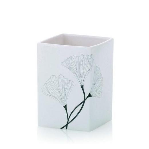 ZAHNPUTZBECHER - Weiß, Basics, Keramik (7/7/10.5cm)