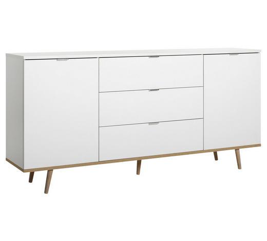 SIDEBOARD Weiß, Sonoma Eiche  - Alufarben/Weiß, KONVENTIONELL, Holz/Holzwerkstoff (180/85/40cm)