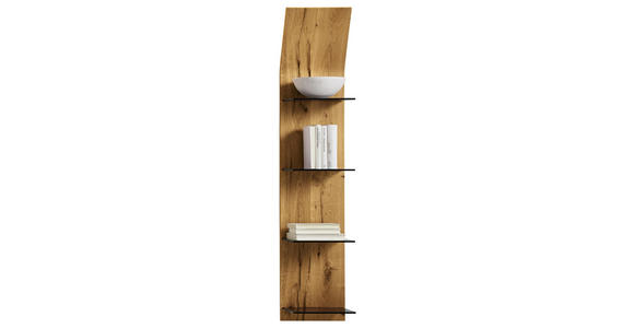 WANDPANEEL 32,5/158,4/23,5 cm  - Eichefarben, Design, Glas/Holz (32,5/158,4/23,5cm) - Moderano