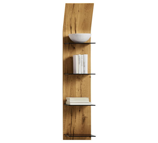 WANDPANEEL - Eichefarben, Design, Glas/Holz (32,5/158,4/23,5cm) - Moderano