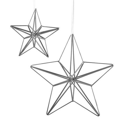 CHRISTBAUMANHÄNGER 2ER SET  Silberfarben - Silberfarben, Metall