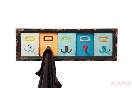 GARDEROBENLEISTE Tanne massiv Multicolor - Multicolor, Design, Holz/Metall (21/66/6cm) - Kare-Design