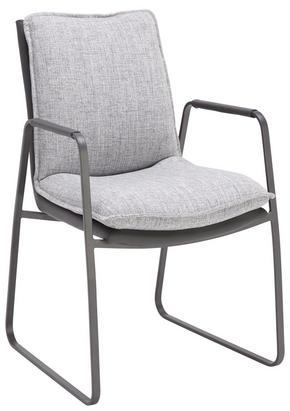 KARMSTOL - ljusgrå/grå, Design, metall/textil (66 87 51,50cm) - Novel