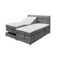BOXSPRINGBETT 180/200 cm  in Grau - Silberfarben/Grau, KONVENTIONELL, Kunststoff/Textil (180/200cm) - Esposa