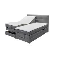 POSTEL BOXSPRING, 180 cm  x 200 cm, textil, šedá - šedá/barvy stříbra, Konvenční, textil/umělá hmota (180/200cm) - Esposa