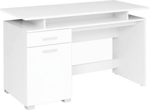 SCHREIBTISCH Weiß - Silberfarben/Weiß, Design, Kunststoff (120/75/55cm) - BOXXX