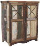 BAR - Multicolor/hnědá, Lifestyle, kov/dřevo (100/120/55cm) - LANDSCAPE