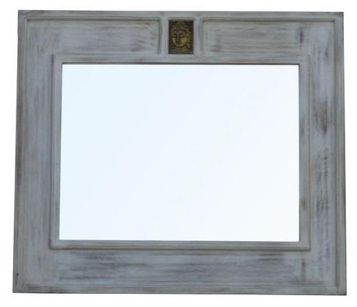 SPIEGEL Mangoholz Weiß - Weiß, Trend, Glas/Holz (101/87/3cm) - Ambia Home