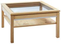 COUCHTISCH Asteiche teilmassiv quadratisch Eichefarben  - Eichefarben, KONVENTIONELL, Glas/Holz (90/90/50cm) - Voleo