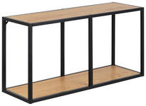 WANDREGAL Schwarz, Eichefarben  - Eichefarben/Schwarz, Trend, Holzwerkstoff/Metall (72,5/37/24cm) - Xora