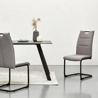 SCHWINGSTUHL Webstoff Grau, Schwarz  - Schwarz/Grau, Design, Textil/Metall (44/98/60,5cm) - Carryhome