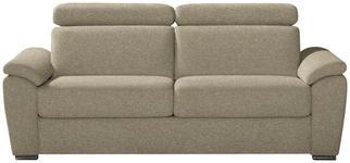 SCHLAFSOFA in Textil Beige  - Chromfarben/Beige, KONVENTIONELL, Textil/Metall (206/86-104/98cm) - Novel