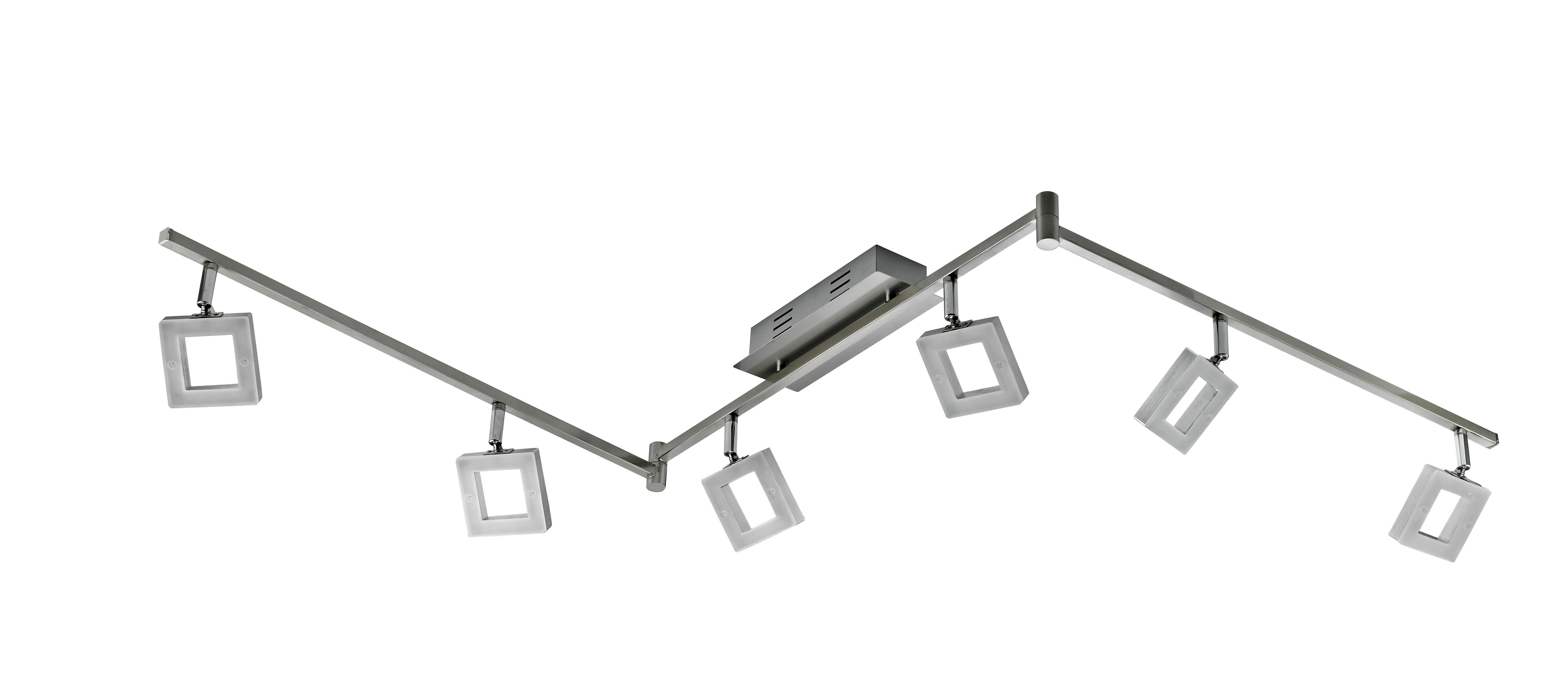 LED-STRAHLER - Chromfarben/Alufarben, Design, Kunststoff/Metall (180,5/8/21,5cm) - NOVEL