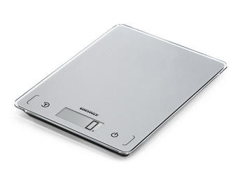 VÁHA KUCHYŇSKÁ - barvy stříbra, Basics, umělá hmota/sklo (16cm) - Söhnle