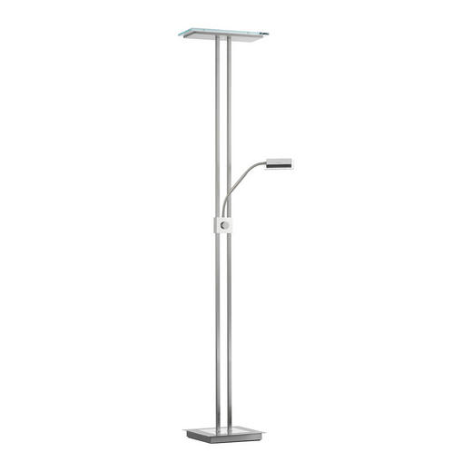 STEHLEUCHTE - Klar/Nickelfarben, Design, Metall (37/28/181cm)