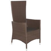 GARTENSESSEL - Braun, Design, Kunststoff/Metall (63/110/58cm) - AMBIA GARDEN