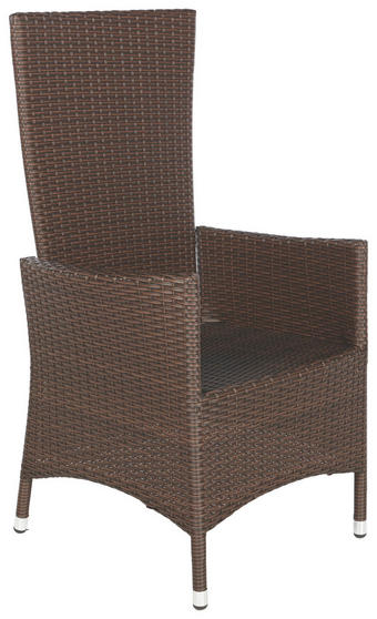 ZAHRADNÍ KŘESLO - hnědá, Design, kov/umělá hmota (63/110/58cm) - AMBIA GARDEN