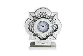 BORDSKLOCKA - silver/transparent, Basics, glas/träbaserade material (30,5/9,3/35,5cm) - Ambia Home