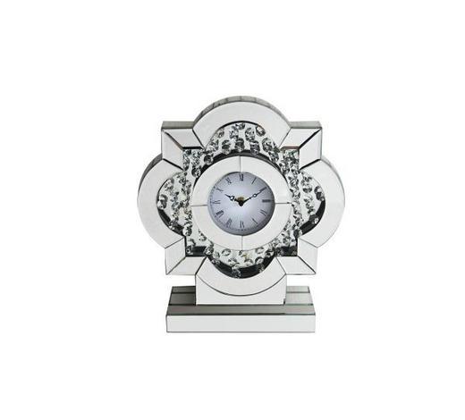 TISCHUHR 30,5/9,3/35,5 cm - Transparent/Silberfarben, Basics, Glas/Holzwerkstoff (30,5/9,3/35,5cm) - Ambia Home