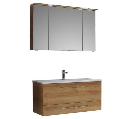 KOUPELNA, barvy dubu - bílá/barvy dubu, Konvenční, kompozitní dřevo/kámen (110cm) - Sadena