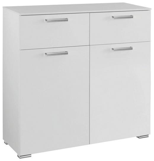 KOMMODE Weiß - Chromfarben/Alufarben, Design, Holzwerkstoff/Kunststoff (110/105/42cm) - Carryhome