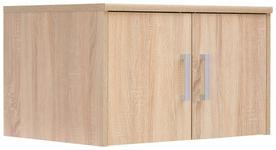 AUFSATZSCHRANK - Silberfarben/Sonoma Eiche, KONVENTIONELL, Holzwerkstoff/Metall (72/43/54cm) - Xora