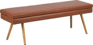 SITZBANK Braun  - Eichefarben/Braun, Design, Holz/Textil (140/47,5/40,5cm) - Carryhome