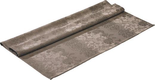 TISCHDECKE Textil Jacquard Braun 100/100 cm - Braun, Basics, Textil (100/100cm)