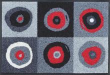 FUßMATTE 40/60 cm Grau, Rot, Schwarz - Rot/Schwarz, Basics, Kunststoff/Textil (40/60cm) - Esposa