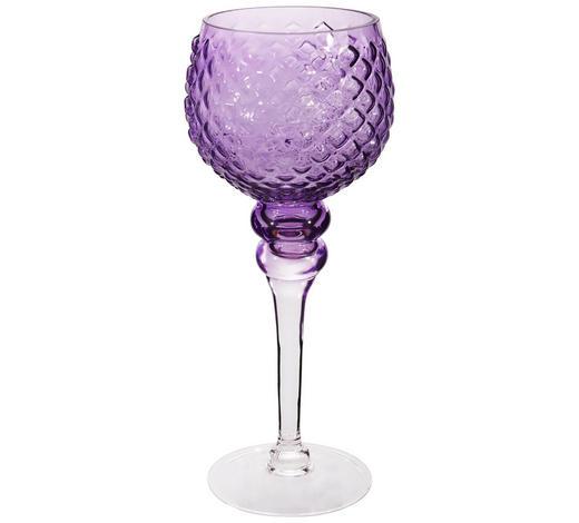 WINDLICHT - Lila, Basics, Glas (12/30cm)