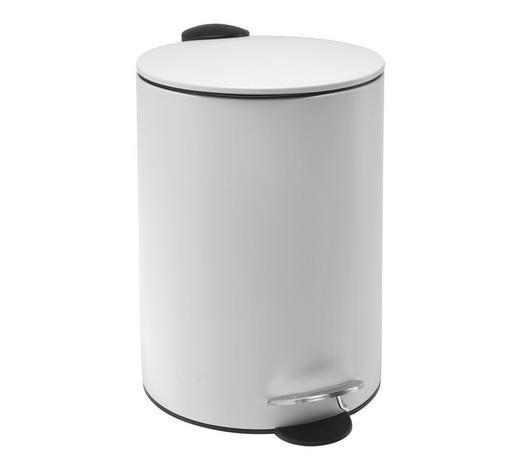 NÁŠLAPNÝ KOŠ, bílá - bílá/černá, Basics, kov/umělá hmota (25/38,5cm) - Homeware