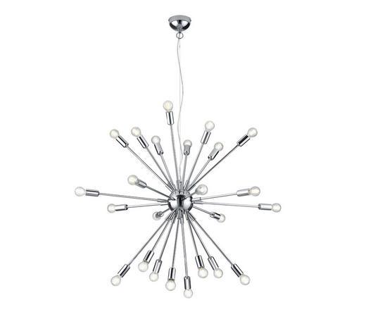 HÄNGELEUCHTE - Chromfarben, Design, Metall (90/150cm) - Marama