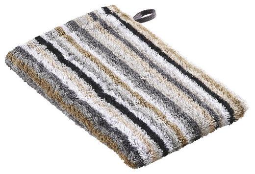 WASCHHANDSCHUH  Grau, Schwarz, Beige - Beige/Schwarz, Basics, Textil (16/22cm) - Cawoe