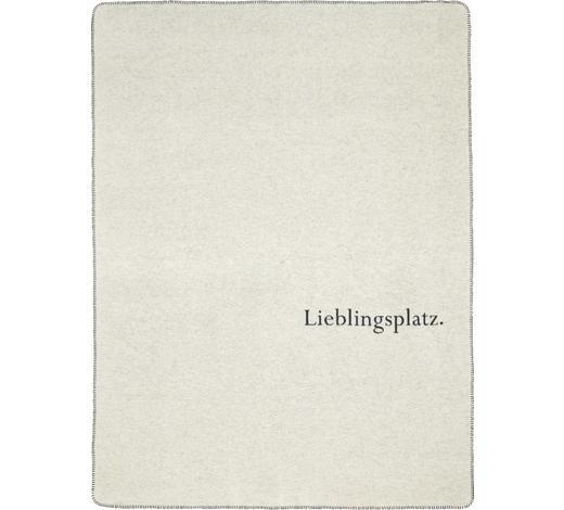 KUSCHELDECKE 150/200 cm - Anthrazit/Weiß, Design, Textil (150/200cm) - David Fussenegger