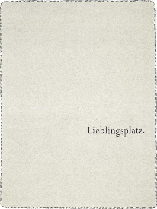 KUSCHELDECKE - Blau/Weiß, Design, Textil (150/200cm) - David Fussenegger